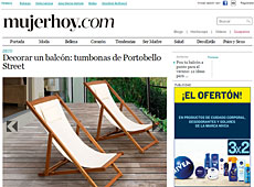 Tumbonas y hamacas con Portobello en mujerhoy.com - Junio 2014