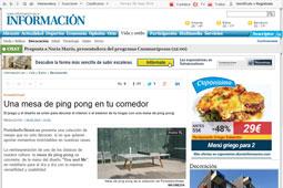 Una mesa de ping pong en tu comedor con Portobello - Mayo 2015