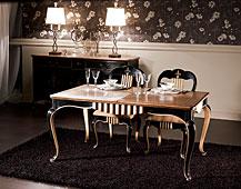 Mesa comedor extensible clásica Valois