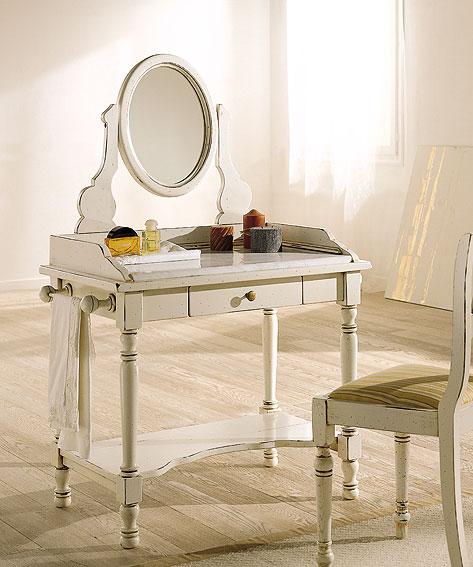 mesa con espejo bianco notte