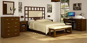 Dormitorio tapizado castaño Manhattan