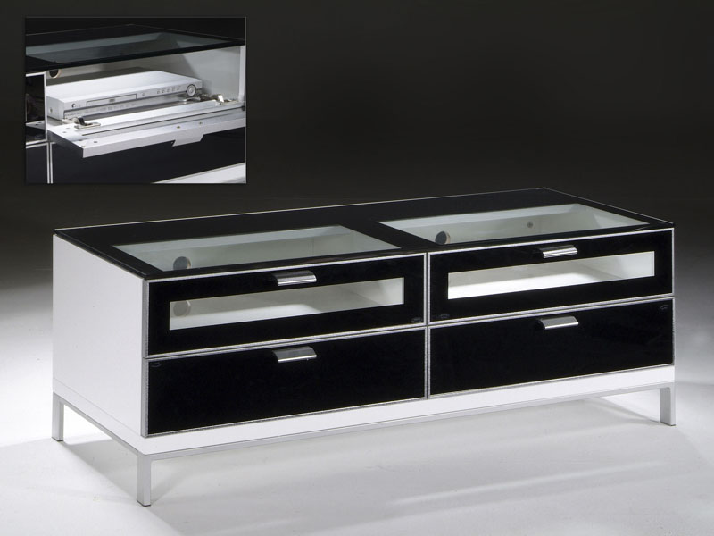 Mueble tv blanco y negro white and black cabinet - Mueble tv negro ...