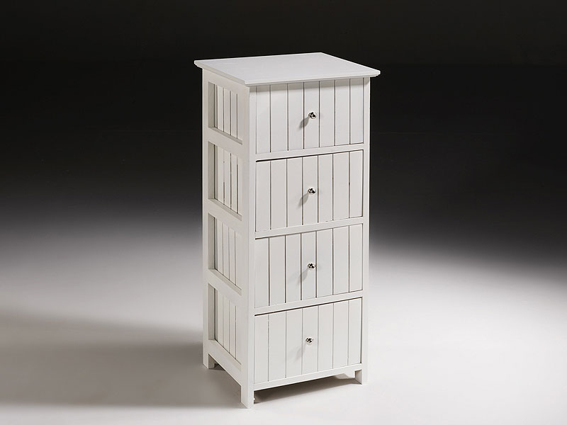 Mueble auxiliar blanco 4 cajones